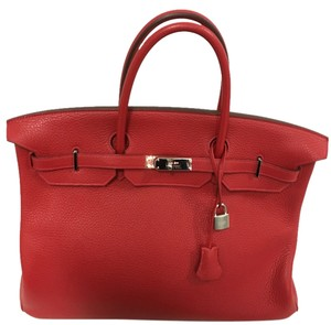Hermès Rare Rouge 40cm Satchel in Red