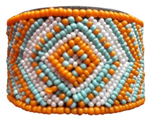 Other MULTI COLORED BEADED CUFF BRACELET