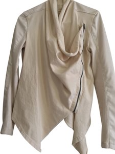 BlankNYC Faux Leather Cream Leather Jacket