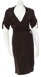 Diane von Furstenberg short dress Brown on Tradesy