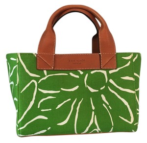 Kate Spade Leather Handles Tote in Green