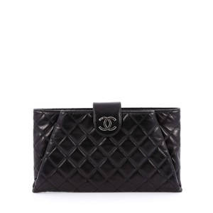 Chanel Calfskin Black Clutch
