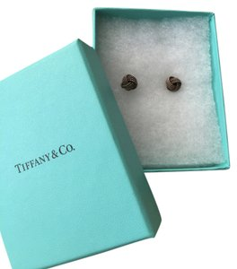 Tiffany & Co. Sterling Silver Love Knot Earrings