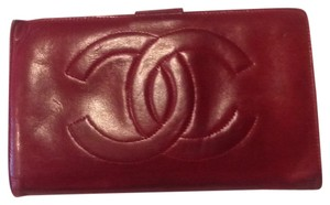Chanel Authentic Chanel Lamb Leather Bifold Wallet