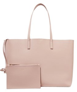 Saint Laurent Leather Tote in blush