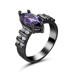 Beautiful Large Marquise Amethyst Ring Free Shipping