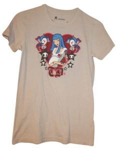 Tokidoki Birds Graphic Tee Italian T Shirt Light Gray
