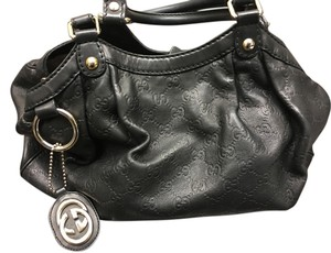 Gucci Sukey Satchel Embossed Leather Large Satchel Hobo Bag