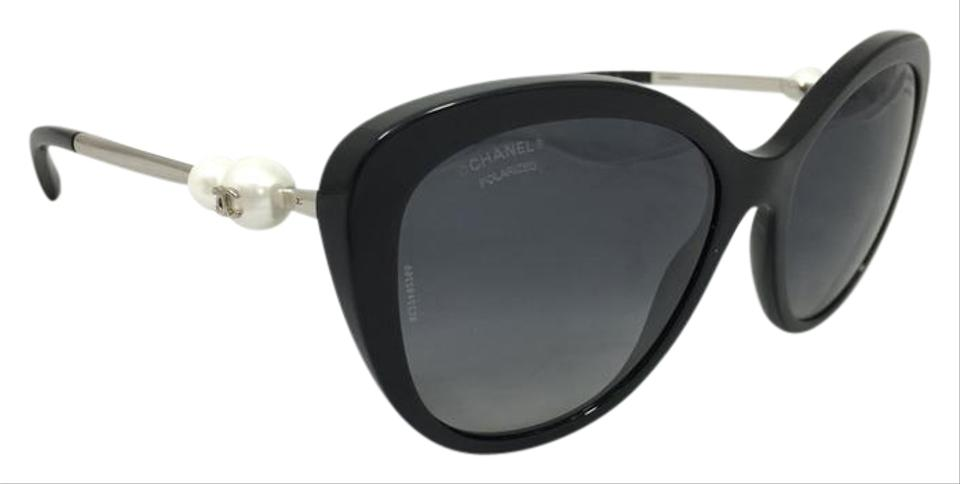 4bf6f56ff Chanel Black Pearl Butterfly Chanel Polarized Sunglasses 5338-H c.