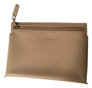 Loewe Wallet Creme White Leather Beige white Clutch