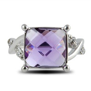 Cushion Cut Amethyst Fashion Ring Free Shipping