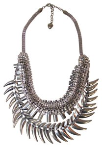 Free People Free People Noir Crescent Crystal Collar - Silver - One Size