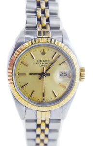 Rolex Rolex Ladies Date Two Tone Gold Dial Watch