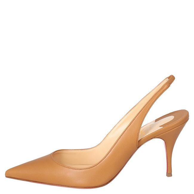 Item - Brown Tan Leather Clare Slingback Pointed Sandals Pumps Size EU 37 (Approx. US 7) Regular (M, B)
