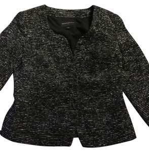 Banana Republic Black and White Heather Blazer