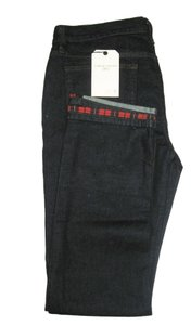 JOE'S Vintage Plaid Straight Leg Jeans-Dark Rinse
