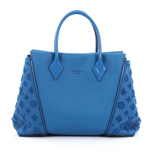 Louis Vuitton Calfskin Tote in Blue