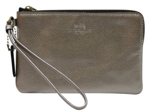 Coach Leather Nwt F54626 Wristlet in GOLD / PLATINUM