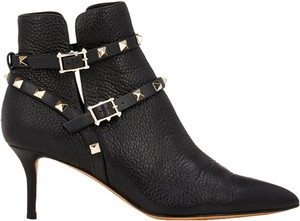 Valentino Rockstud Ankle Size 37 Black Boots
