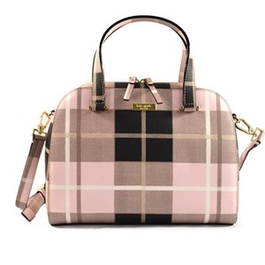 Kate Spade Satchel in Pink Plaid