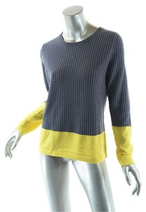 Lisa Perry Merino Wool Color Block Sweater