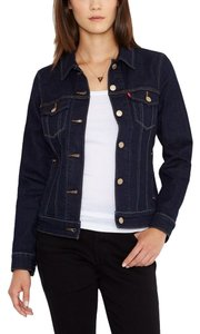 Levi's Levis Dark Denim (Rinse 2) Womens Jean Jacket