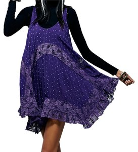 Free People Slip Plum Rayon Swing Slip Xsmall Dress