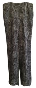 INC International Concepts Straight Pants Multi- gray and black sparkle