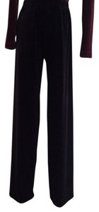 BCBGMAXAZRIA Velvet Evening Classic Wide Leg Pants Black
