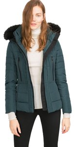 Zara Puffer Winter Fur Anorak Down Coat