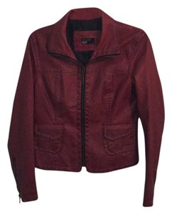 William Rast Brick/Red Leather Jacket