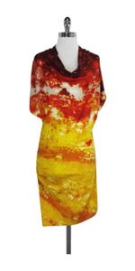Catherine Malandrino short dress Red Orange Yellow Silk on Tradesy