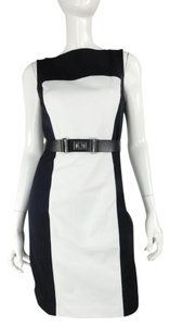 MILLY Color-blocking Poplin Belted Pencil Dress