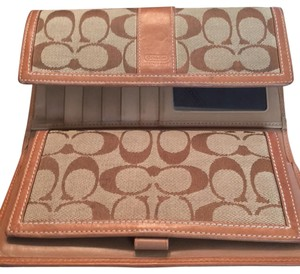 Coach Coach Check book wallet
