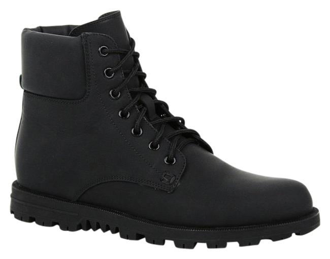 Item - Black New Rubberized Lace Up Ankle Web Detail G/ 11 354321 1060 Boots/Booties Size EU 40.5 (Approx. US 10.5) Wide (C, D)
