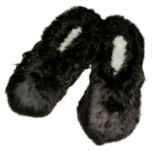 Agroinca PPX Alpaca Fur Slippers Dark Brown Flats