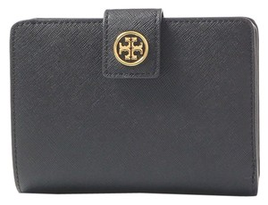Tory Burch Robinson French Fold Wallet, Black, Saffiano Leather