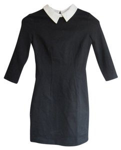 Cooperative short dress Black Wednesday Adams Ponte Cotton on Tradesy
