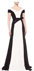Carolina Herrera Contrast Belted Gown Dress