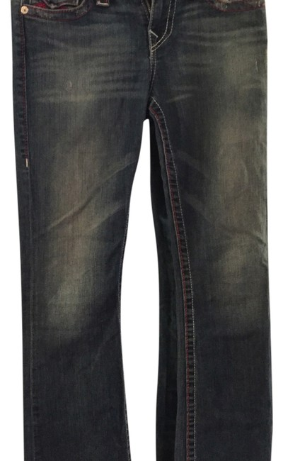 Item - Blue with Pink Boot Cut Jeans Size 29 (6, M)