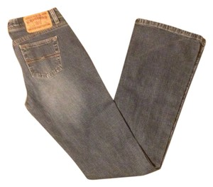 Express Low Stretch Slung Flare Jeans Size 3/4L Boot Cut Jeans-Medium Wash