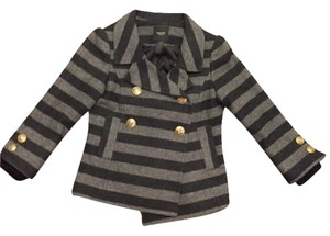 Smythe Blazer Coat Striped Gray Jacket