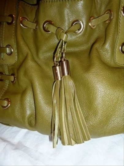 MICHAEL Michael Kors Grommet Tassels Leather Shoulder Bag