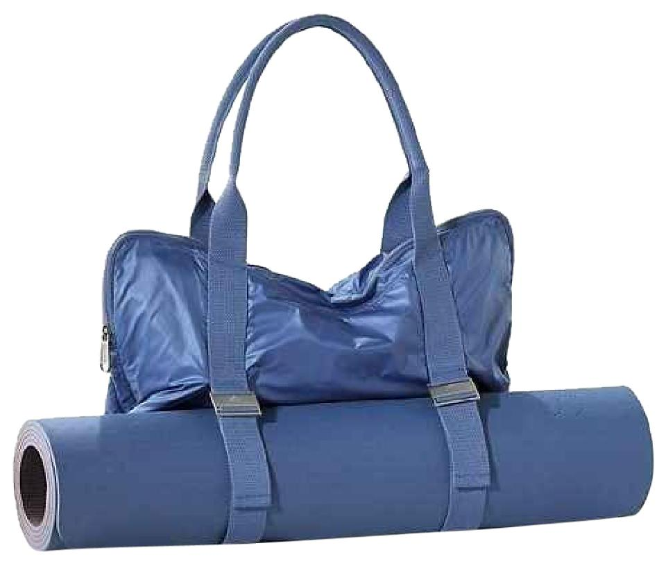 adidas By Stella McCartney Yoga Mat Lululemon Barre Define Blue Travel Bag  ... 9c546652cee6e