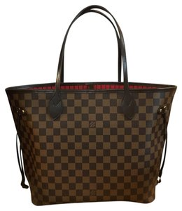 Louis Vuitton Neverfull Mm Tote in Damier Ebene