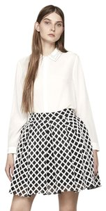 Maje Puffball Mini Skirt Black & White