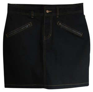 Betsey Johnson Mini Mini Skirt Black Denim