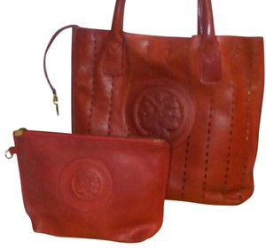 Fendi Roma Vintage 2 Pc Set Tote in Red