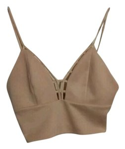 Charlotte Russe Crop Strappy Top Pale Pink