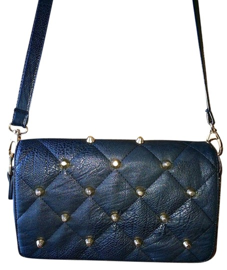 Street Level Studded Quilted Cross Body Bag